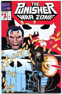 PUNISHER WAR ZONE #1, Die cut cv, John Romita, NM+ , Dixon, Brooklyn, Dead