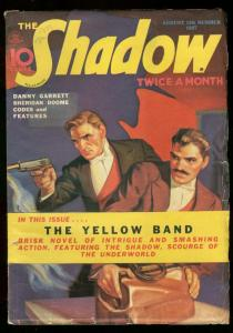 SHADOW AUGUST 15 1937 YELLOW BAND MAXWELL GRANT GIBSON FN