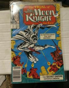 MARC SPECTOR MOON KNIGHT # 17 1990 MARVEL+  SECRET EMPIRE