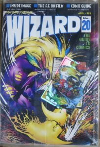 WIZARD Magazine #20 (April 1993)  POLYBAGGED! Maxx cover, Image article, FF