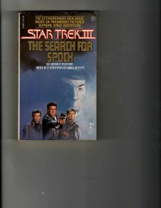 3 Books Star Trek III Search for Spock Book of Andre Norton Spider Kiss JK22