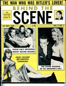 Behind The Scene 5/1956-Joan Collins-Betty Page-Custer-exploitation-scams-VG