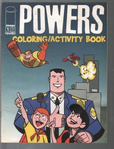 Powers Coloring Book #1 2001-Image-1st issue-Bendis & Oeming art-VF