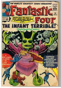 FANTASTIC FOUR #24, GD+, Infant Terrible, Jack Kirby, 1961, Silver age
