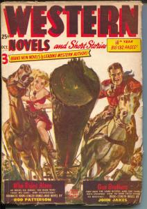 Western Novels & Short Stories 10/1952-pulp thrills-Norman Saunders-VG