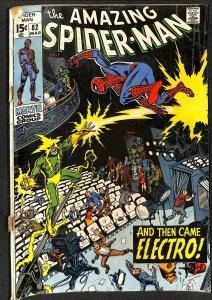 Amazing Spider-Man #82 GD+ 2.5 Electro! Marvel Comics Spiderman