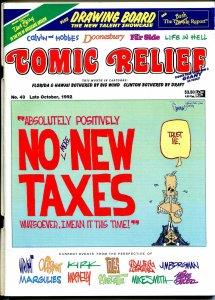 Comic Relief #43 1992-Calvin & Hobbes-political cartoons-Toles-Doonesbury-FN/VF