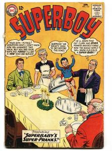 Superboy #112 1964- DC Silver Age- Superbaby cover g/vg