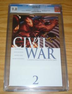 Civil War #2 CGC 9.8 mark millar - marvel's avengers - spider-man reveals ID