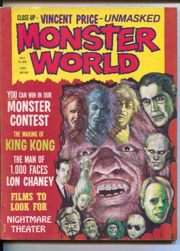 Monster World #6 1975-Mayfair-Young Frankenstein-King Kong-Vincent Price-Norm...