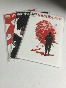 Thumbprint 1 2 3 Nm Near Mint IDW