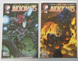 Micronauts #1+2 8.0 VF (2004 Devil's Due 3rd Series)