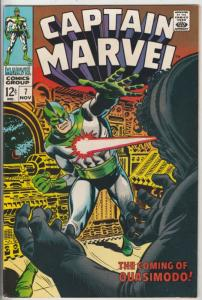 Captain Marvel #7 (Nov-68) VF/NM High-Grade Captain Marvel