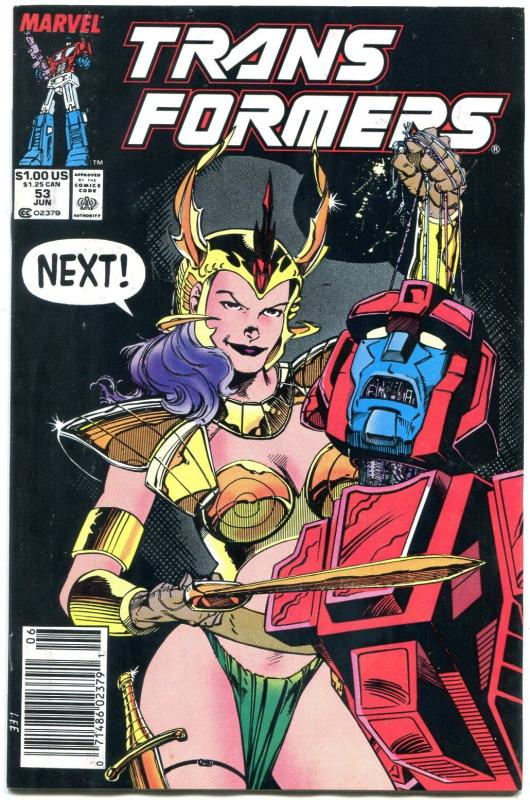 TRANSFORMERS #53-1989-JIM LEE COVER-MARVEL-RARE