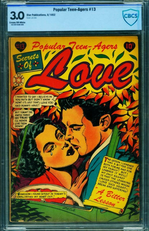 POPULAR TEEN-AGERS #13 CBCS 3.0-Star-L.B. COLE cover-1952
