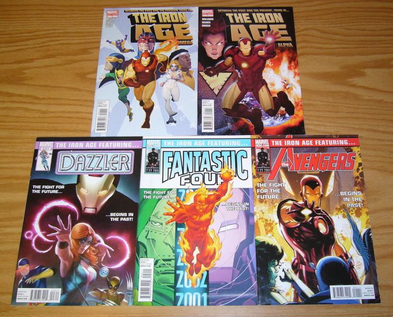 Iron Age #1-3 VF/NM complete series + alpha + omega - iron man - captain britain