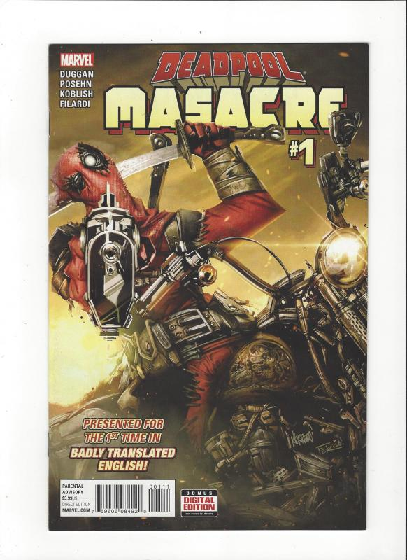 DEADPOOL MASACRE #1 MARVEL  COMICS NM