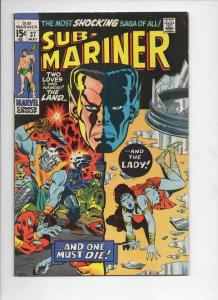 SUB-MARINER #37, FN, Ross Andru, Dusty Death, 1968, more in store