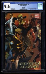 Avengers Academy (2010) #1 CGC NM+ 9.6 White Pages 1:25 Djurdjevic Variant