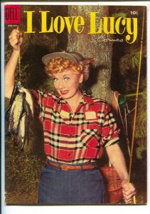 I Love Lucy #7 1955-Dell-Lucille Ball photo cover-based on her TV series-FN