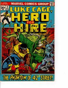 MARVEL Hero for Hire Ft Luke Cage (1972 Series) DEC 1972 FN-