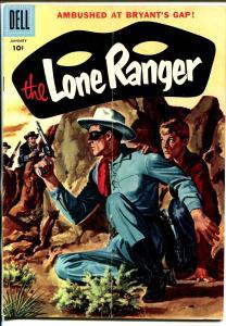 Lone Ranger #103 1957-Dell-painted cover-Ambush At Bryant's Gap-VG