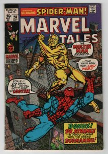 Marvel Tales #28 Spider-man 10/1970 Bronze Age 3 story square bound book Fine+