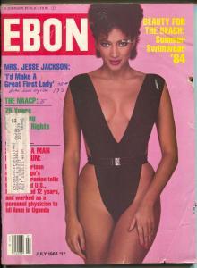 Ebony 7/1984-Summer Swimwear '84-Mrs Jesse Jackson-75 Years of NAACP-VG