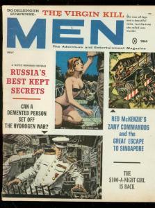 MEN MAGAZINE MAY 1961-TOP NAZIS-FLO CHANDON-GIL COHEN VG/FN