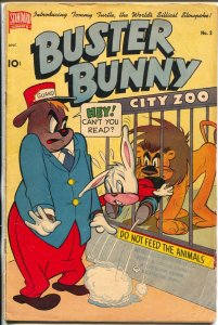 Buster Bunny #2 1950-Standard-zoo cover-Ralph Wolfe art- rare-VG