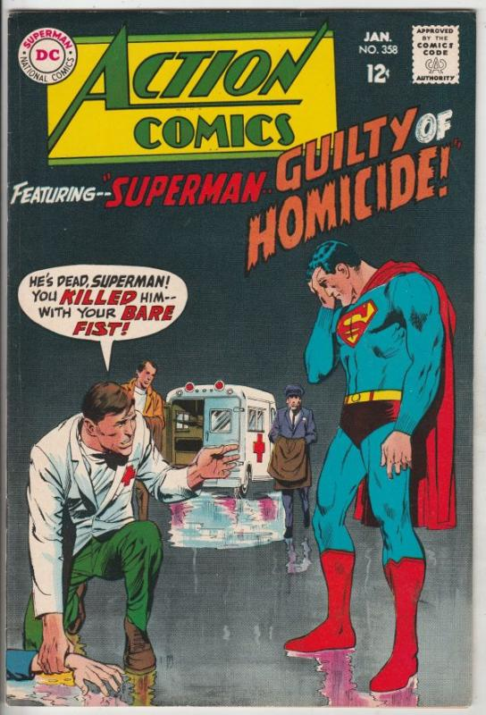 Action Comics #358 (Jan-68) VF High-Grade Superman