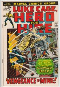 Luke Cage Hero for Hire #2 (Aug-72) NM- High-Grade Luke Cage