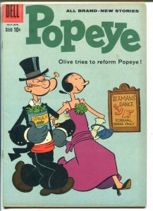 Popeye #54-1960-Dell-Olive Oyl-FN