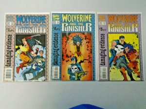 Wolverine and the Punisher Damaging Evidence Set: #1-3 8.0 VF (1993)