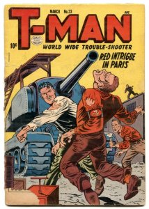 T-Man #23 1955- Red Menace commie cover- H-Bomb G