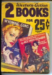 Two Western-Action Books #11-Summer 1951-Allen Anderson GGA cover-violent Pul...