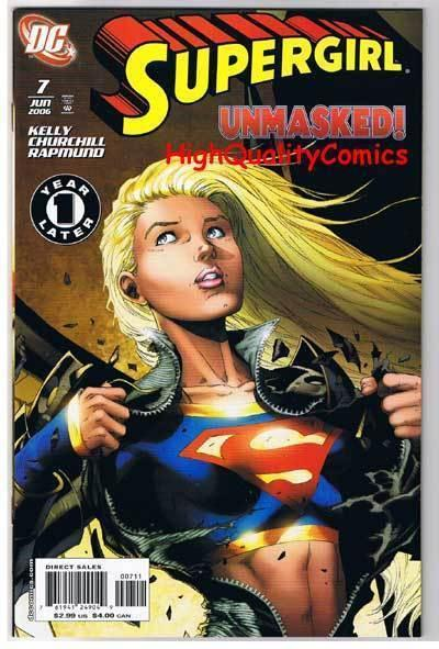 SUPERGIRL #7, NM+, Greg Rucka, Churchill, 2005, more DC in store