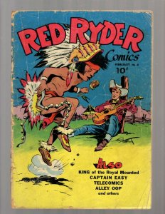 Red Ryder Comics # 31 VG- 1946 Dell Golden Age Comic Book Western Cowboy JK7