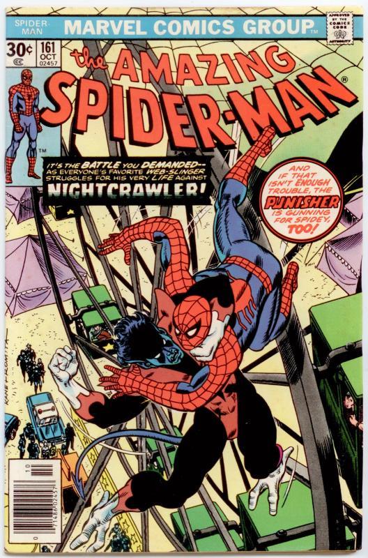 Amazing Spider-Man #161 VF+ 8.5  Nightcrawler, Wolverine, Colossus, Punisher!