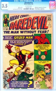 Daredevil #1 CGC Graded 3.5 Origin and 1st appearance of Daredevil (Matt Murd...
