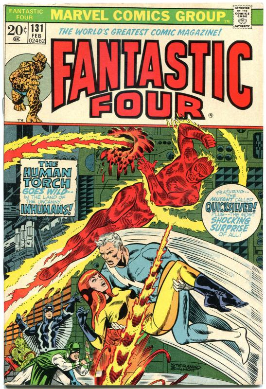 FANTASTIC FOUR #131, VF+, InHumans, Jim Steranko, 1961, more FF in store, QXT