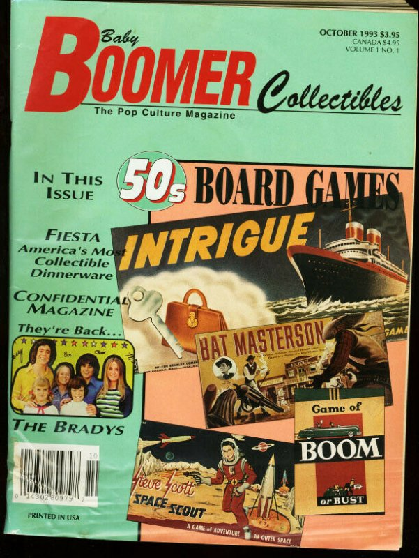 BABY BOOMER COLLECTIBLES 1993-#1-BRADY BUNCH-BOARD GAME VG