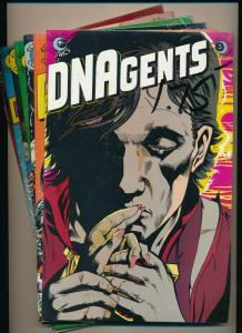 LOT 7 Comics!-Eclipse Comics DNAgents #3,5-7,10-12  VF+ (PF793)