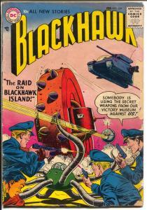 Blackhawk #109 1957-DC-War Wheel-2nd DC issue-Raid On Blackhawk Island-G