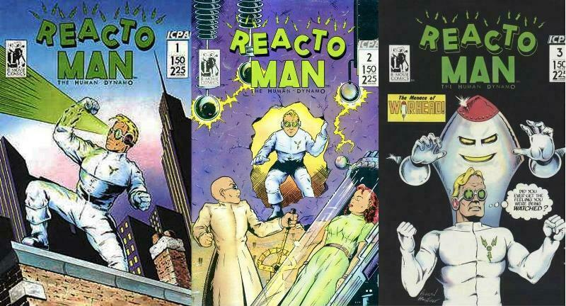 REACTO MAN (1987 B) 1-3  the COMPLETE series!