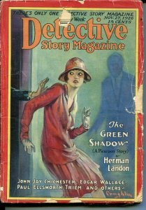 DETECTIVE STORY MAGAZINE-NOV 27 1926-LANDON-EDGAR WALLACE KREBS-good minus G-