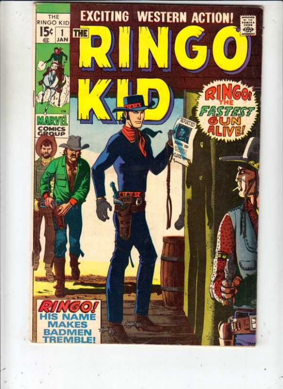 Ringo Kid #1 (Jan-70) VF- High-Grade Ringo Kid