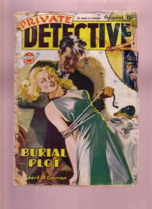 PRIVATE DETECTIVE STORIES-AUG 1945-GOOD GIRL ART-PULP FR