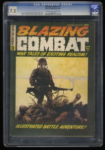 Blazing Combat #3 CGC VF- 7.5 Cream To Off White Frank Frazetta Cover!