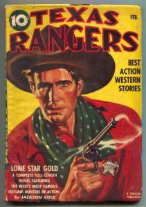 Texas Rangers Pulp February 1942- Lone Star Gold VG+